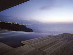Breathtaking view from the pool.  House in Tenerife, Spain // 13 Houses With Superb Architecture And Interior Design on youramazingplaces.com