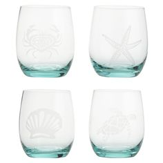 Have you had a wonderful beach vacation? Or have a friend who just returned from one? Our stemless wine glass set is just the right gift—for you and your friend. Handblown, each glass features a favorite creature from the sea—a subtle yet significant reminder of days and evenings spent relaxing and laughing seaside.