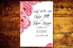 Traditional Watercolor Save the Date Printable by BisforBonnie, $25.00