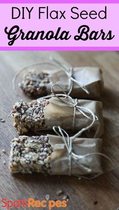 DIY Flax Seed Granola Bars. Made with real food--YUM!| via @SparkPeople #snacks #healthyeating #healthysnack