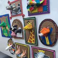 School Art Projects, Projects For Kids, Fun Crafts, Arts And Crafts, Middle School Art, Animal Crafts, Animal Art Projects, Craft Activities For Kids, Recycled Art
