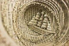 50 Astonishing Book Art Projects - From 3D Book Art to Merging Book Sculptures (TOPLIST)