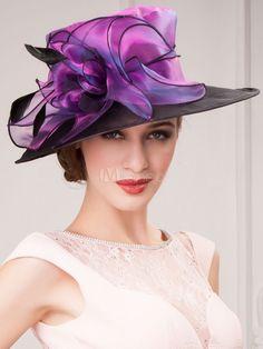e10e54e43ec Women s Vintage Hat Blue Audrey Hepburn Organza Feather Flower Retro Hat  Halloween  Blue