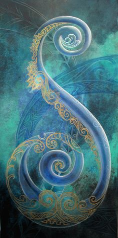 Regal Koru By Reina Cottier Art Print by Reina Cottier. All prints are professionally printed, packaged, and shipped within 3 - 4 business days. Choose from multiple sizes and hundreds of frame and mat options. Maori Designs, Koru Tattoo, Thai Tattoo, Maori Symbols, Maori Patterns, Zealand Tattoo, Polynesian Art, New Zealand Art, Nz Art
