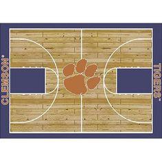 "My Team by Milliken NCAA College Home Court Clemson Novelty Rug Rug Size: 7'8"" x 10'9"""