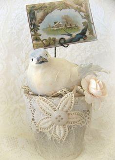 Handmade  Bird Flower Peat Pot