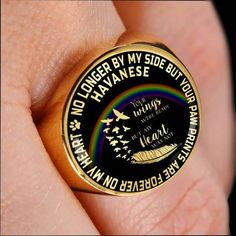 Basset Hound Pet Bereavement Signet Ring No Longer By My Side Dog Remembrance Memorial Jewelry