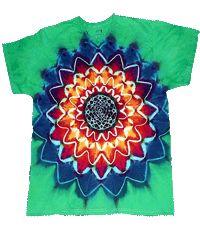 Green 16-point Star tiedye shirt