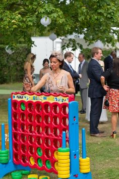 Where does one find a giant Connect Four? :D (Boho Planned Weddings)