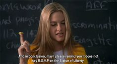 Why Everyone Should Be a Little More Like Cher Horowitz from Clueless Clueless Quotes, Clueless 1995, Cher From Clueless, Cher Horowitz, Clueless Aesthetic, Funny One Liners, Political Discussion, Chick Flicks, Super Quotes
