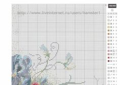 Gallery.ru / Фото #1 - цветы 6 - koreianka Needlepoint Stitches, Needlework, Cross Stitch Embroidery, Cross Stitch Patterns, Cross Stitch Flowers, Projects To Try, Old Things, Bullet Journal, Crossstitch