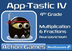 4th grade students use real data from the Android App Store for their favorite category of app to practice multiplying with multi digit numbers ending in zero and to find fractions with a denominator of 10. As app developers students have to use this data to analyze which types of app are the most successful. Common Core Aligned.