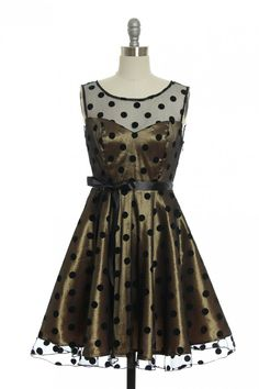 Dot Your Eyes Dress   Vintage, Retro, Indie Style Dresses