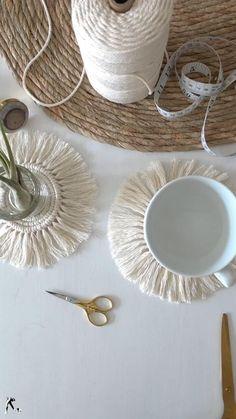Rope Crafts, Diy Crafts Hacks, Diy Home Crafts, Diy Crafts Videos, Diy Crafts To Sell, Diy Crafts For Kids, Handmade Crafts, Handmade Books, Handmade Home