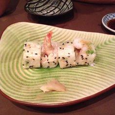 Tempura roll - Roll de Yuba con  tempura. Para mi lo más sobresaliente. una textura increible.