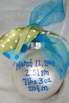 Baby's First Christmas Ornament | J's first Christmas | Pinterest