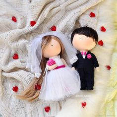 The bride and groom textile dolls – shop online on Livemaster with shipping Beautiful Barbie Dolls, Pretty Dolls, Wedding Gifts For Bride, Bride Gifts, Wedding Doll, Journey Girls, Free To Use Images, Mermaid Dolls, Girlfriend Birthday