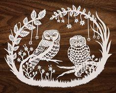 Paper Cutting Patterns, Paper Cutting Templates, Art Template, Owl Crafts, Paper Crafts, Stencil, Cut Out Art, Paper Owls, Paper Magic
