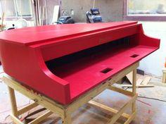 Red laminate Mini piano shell