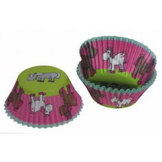 Feest Cup Cakes Paardenprint