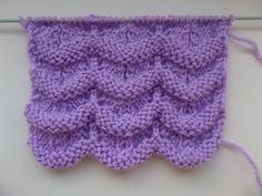Вязание волнистого ажурного узора. Вязание спицами. - YouTube