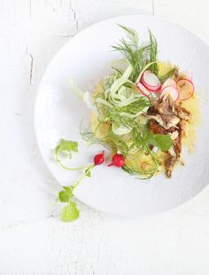 Fennel Bulb and Smoked Mackerel salad with Anchovy Vinaigrette  Styling : Luisa Farelo Photography : Henk Hattingh
