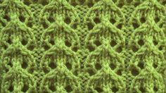 Ажурный узор Дорожки Вязание спицами Видеоуроки Lace Knitting Stitches, Crochet Stitches Patterns, Knitting Charts, Lace Patterns, Baby Knitting Patterns, Knitting Designs, Knitting Needles, Stitch Patterns, Knitting Videos