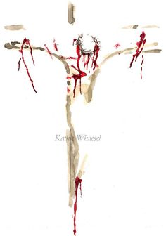 Religious Art Abstract Painting of Jesus on by KWhiteselCreations
