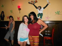 Mother and daughter hanging out with Big Ang