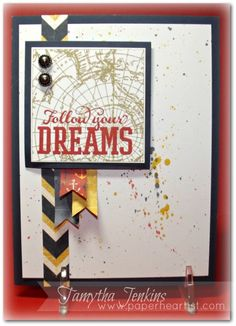 Dreams Card created by Tamytha Jenkins of www.paperheartist.com using Close To My Heart (CTMH) Tommy Workshop-on-the-Go paper and stamps.