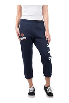 NFL Women's Team Color Active Capri Cropped Fleece Jogger Pants  https://allstarsportsfan.com/product/nfl-womens-team-color-active-capri-cropped-fleece-jogger-pants/  Officially licensed by the NFL (National Football League) Perfect for running, sports, exercise, fitness, casual wear or everyday Use High quality screen print graphics of team logo and name