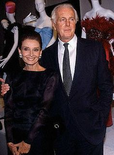 October 21, 1991, Audrey Hepburn and Hubert de Givenchy at The Night of the 40 Years of Givenchy in Paris, France. (?? At the FIT Givenchy Retrospective, NYC. Courtesy Givenchy)