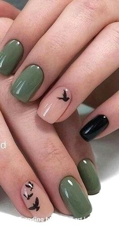 20 Simple Black Nail Art Design Ideas #blacknails