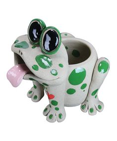 ($25) Look what I found on #zulily! Frog Planter by Exhart #zulilyfinds