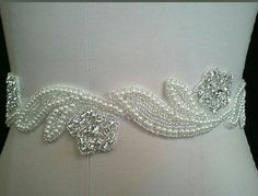 Hey, I found this really awesome Etsy listing at https://www.etsy.com/listing/196389643/unique-bridal-sash-with-pearls