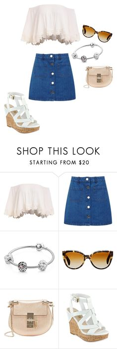 """Untitled #93"" by breanna113 ❤ liked on Polyvore featuring Miss Selfridge, Pandora, Oliver Peoples and Chloé"