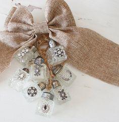 Rhinestone Salt Shaker Christmas Garland by ClothandPatina on Etsy