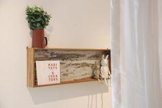 Younhyun DIY Shelf made by Old Navy Tile , Wood Carving Rabbit Doll / 윤현상재 올드 네이비 타일 (핸드메이드 선반) , 목각토끼인형