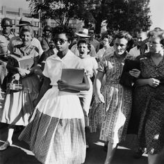 This still makes my stomach lurch and my heart race every time I see it.  Elizabeth Eckford was just one month shy of her 16th birthday in this photo. What the hell was I doing with my life when I was 15??