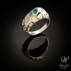 JÄÄLAUTAT sormus Paraiba – Wild Art jewellery