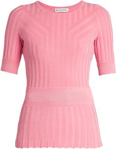 Altuzarra Ozzy Short-sleeved T-shirt In Blush-pink Striped Tee, Pink Tops, Women Wear, Tunic Tops, Fashion Outfits, Tees, T Shirt, Clothes, Cardigans