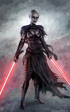Sith Assassin Asajj Ventress by Sirtiefling Star Wars Sith, Star Wars Mädchen, Star Wars Girls, Clone Wars, Star Wars Fan Art, Images Star Wars, Star Wars Pictures, Female Sith, Starwars