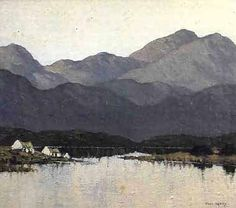 Cottages by a Lough by Paul Henry, Irish painter