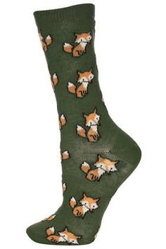 Forest All Over Foxes Sock