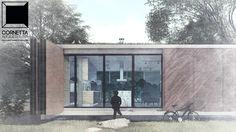 Projeto para uma de nossas casas de campo ou praia utilizando pré-moldados de concreto e madeira. #cornetta #arquitetura #cornettaarquitetura #loft #casasdecampo
