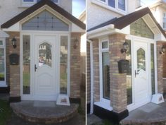 Light Oak PVC French Doors and Sidescreens