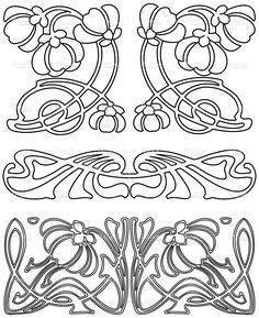 Art Deco Design Elements 3 (Vector). stock vector art 1101700 - iStock