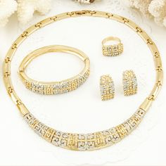 Find More Jewelry Sets Information about 11.11 Sales Dubai African 18k Gold Plated Rhinestone Crystal Necklace Set Fashion Women Bride Wedding jewelry sets ,High Quality fashion necklace set,China necklace set Suppliers, Cheap rhinestone crystal necklace sets from AE Jewelry&sport jerseys on Aliexpress.com