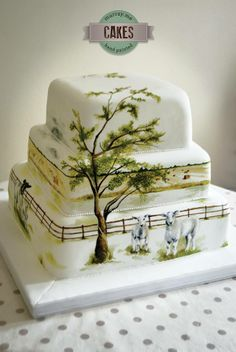 Beautiful hand painted cake by Murrayme (https://www.facebook.com/murraymedesigns?fref=nf)