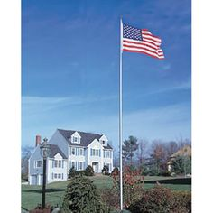 flag pole length